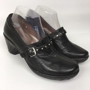 NATURALIZER Sz 8.5W Black Leather Heeled Booties